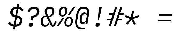 IBM Plex Mono Italic Font OTHER CHARS