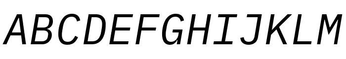 IBM Plex Mono Italic Font UPPERCASE