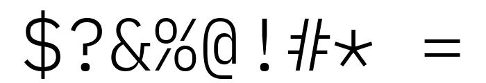 IBM Plex Mono Light Font OTHER CHARS