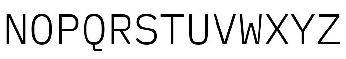 IBM Plex Mono Light Font UPPERCASE