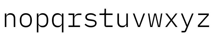 IBM Plex Mono Light Font LOWERCASE