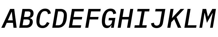 IBM Plex Mono Medium Italic Font UPPERCASE