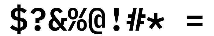 IBM Plex Mono SemiBold Font OTHER CHARS