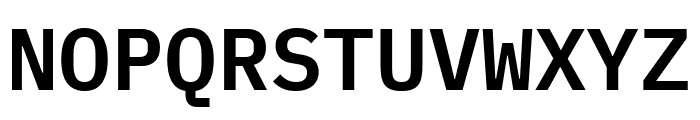 IBM Plex Mono SemiBold Font UPPERCASE