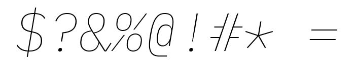 IBM Plex Mono Thin Italic Font OTHER CHARS
