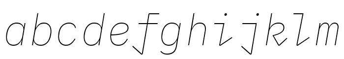 IBM Plex Mono Thin Italic Font LOWERCASE