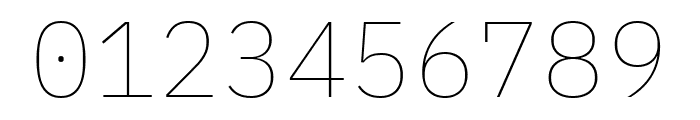 IBM Plex Mono Thin Font OTHER CHARS