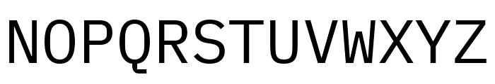 IBM Plex Mono Font UPPERCASE