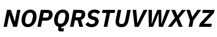 IBM Plex Sans Bold Italic Font UPPERCASE