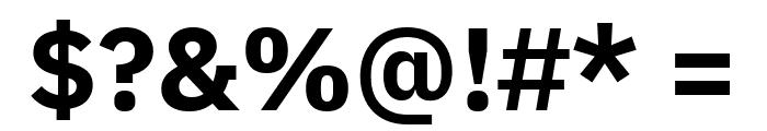 IBM Plex Sans Bold Font OTHER CHARS