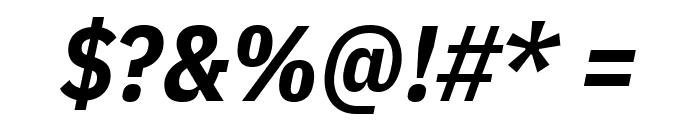 IBM Plex Sans Condensed Bold Italic Font OTHER CHARS
