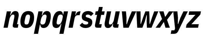 IBM Plex Sans Condensed Bold Italic Font LOWERCASE