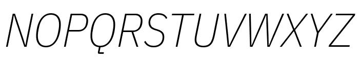 IBM Plex Sans Condensed ExtraLight Italic Font UPPERCASE