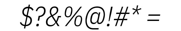 IBM Plex Sans Condensed Light Italic Font OTHER CHARS
