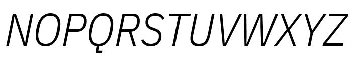 IBM Plex Sans Condensed Light Italic Font UPPERCASE