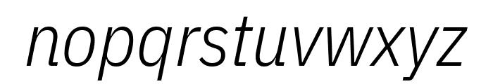 IBM Plex Sans Condensed Light Italic Font LOWERCASE