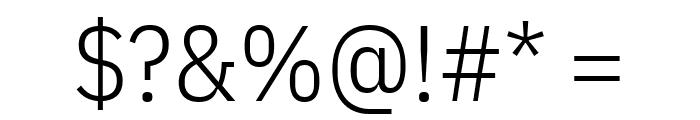 IBM Plex Sans Condensed Light Font OTHER CHARS