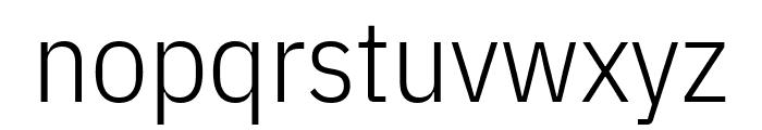 IBM Plex Sans Condensed Light Font LOWERCASE