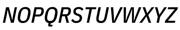 IBM Plex Sans Condensed Medium Italic Font UPPERCASE
