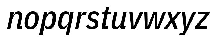 IBM Plex Sans Condensed Medium Italic Font LOWERCASE