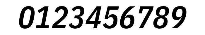IBM Plex Sans Condensed SemiBold Italic Font OTHER CHARS