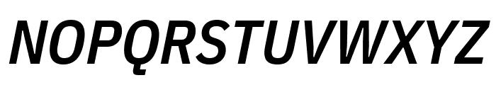IBM Plex Sans Condensed SemiBold Italic Font UPPERCASE