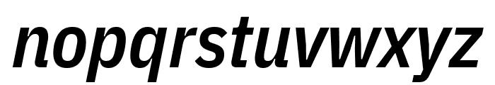 IBM Plex Sans Condensed SemiBold Italic Font LOWERCASE