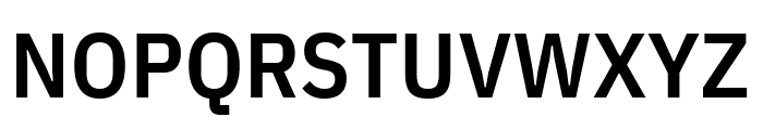 IBM Plex Sans Condensed SemiBold Font UPPERCASE