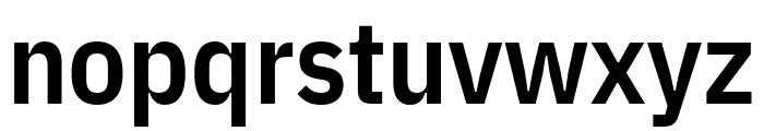 IBM Plex Sans Condensed SemiBold Font LOWERCASE