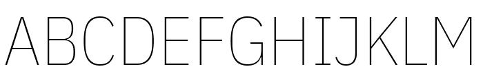 IBM Plex Sans Condensed Thin Font UPPERCASE