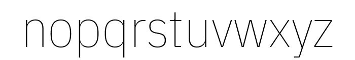 IBM Plex Sans Condensed Thin Font LOWERCASE