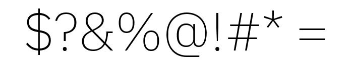 IBM Plex Sans ExtraLight Font OTHER CHARS