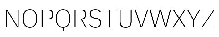 IBM Plex Sans ExtraLight Font UPPERCASE