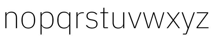 IBM Plex Sans ExtraLight Font LOWERCASE