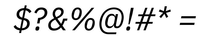 IBM Plex Sans Italic Font OTHER CHARS