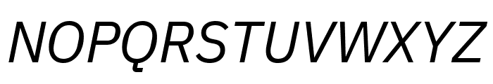 IBM Plex Sans Italic Font UPPERCASE