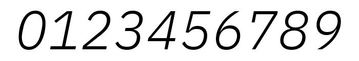 IBM Plex Sans Light Italic Font OTHER CHARS