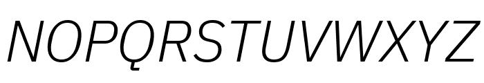 IBM Plex Sans Light Italic Font UPPERCASE