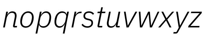 IBM Plex Sans Light Italic Font LOWERCASE