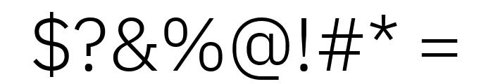 IBM Plex Sans Light Font OTHER CHARS