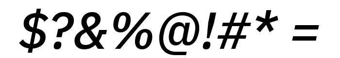 IBM Plex Sans Medium Italic Font OTHER CHARS