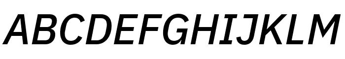 IBM Plex Sans Medium Italic Font UPPERCASE
