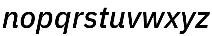IBM Plex Sans Medium Italic Font LOWERCASE