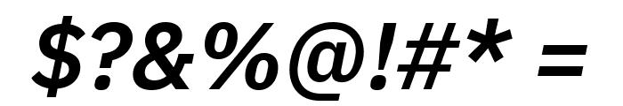 IBM Plex Sans SemiBold Italic Font OTHER CHARS