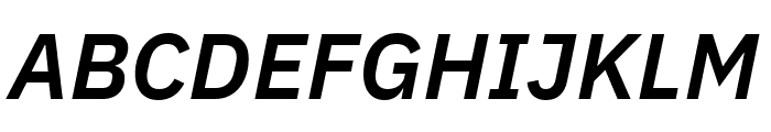 IBM Plex Sans SemiBold Italic Font UPPERCASE