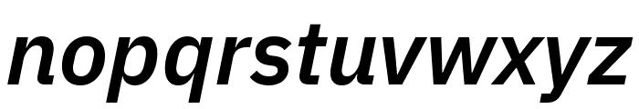 IBM Plex Sans SemiBold Italic Font LOWERCASE