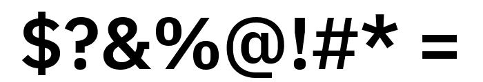 IBM Plex Sans SemiBold Font OTHER CHARS
