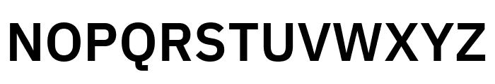 IBM Plex Sans SemiBold Font UPPERCASE