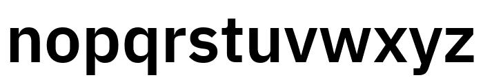 IBM Plex Sans SemiBold Font LOWERCASE