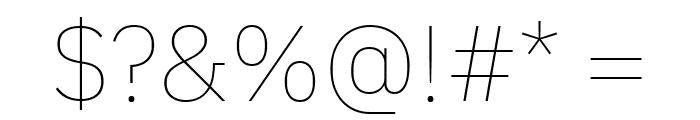 IBM Plex Sans Thin Font OTHER CHARS